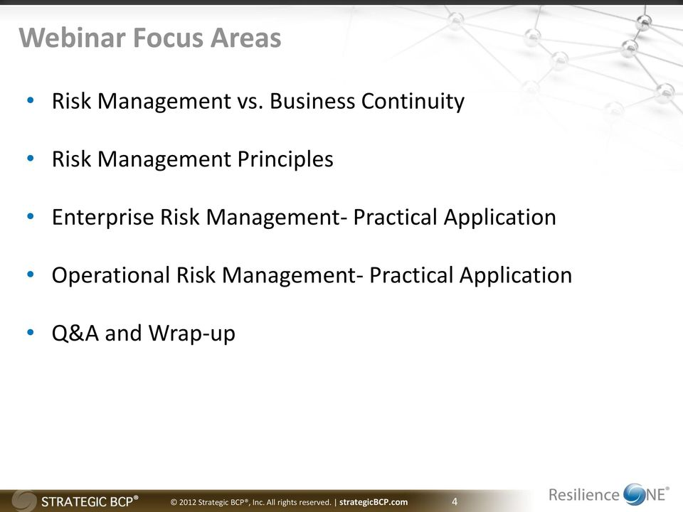 Management- Practical Application Operational Risk Management-