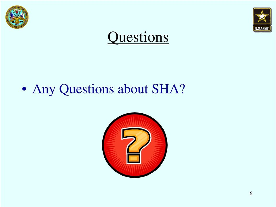 about SHA?