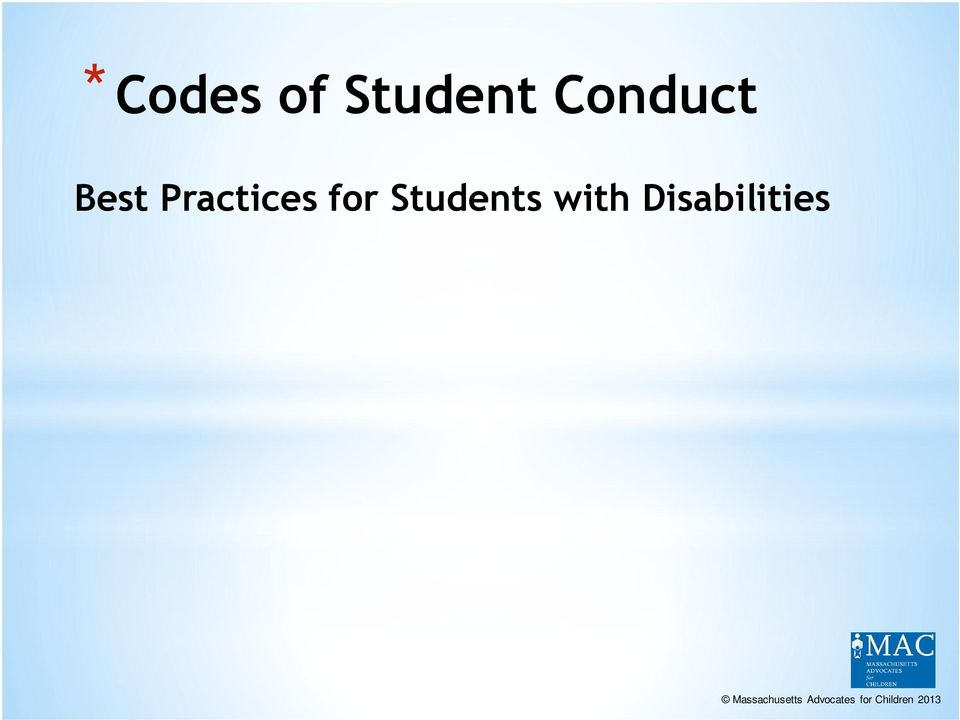conduct and determines whether the student is