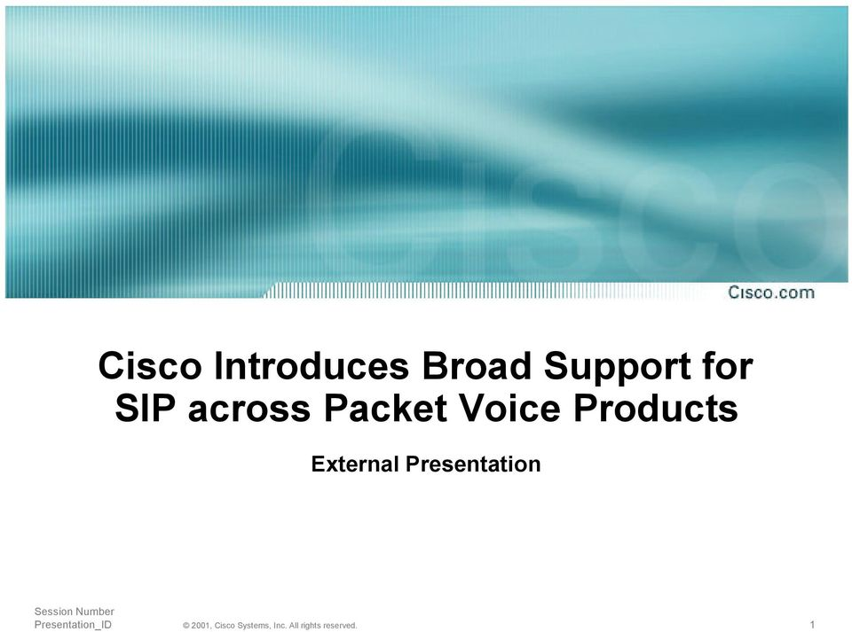Packet Voice Products