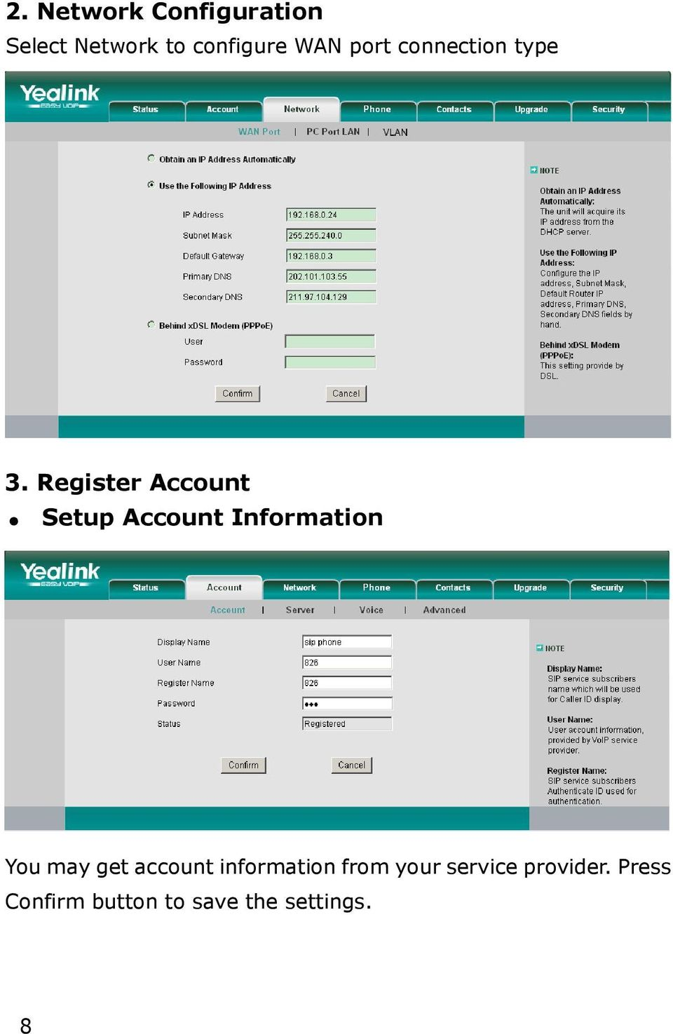 Register Account Setup Account Information You may get