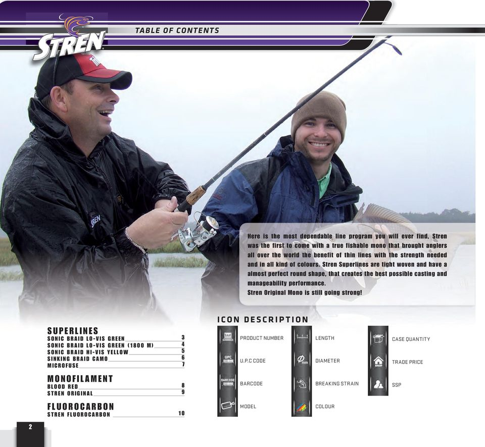Stren Superlines are tight woven and have a almost perfect round shape, that creates the best possible casting and manageability performance. Stren Original Mono is still going strong!