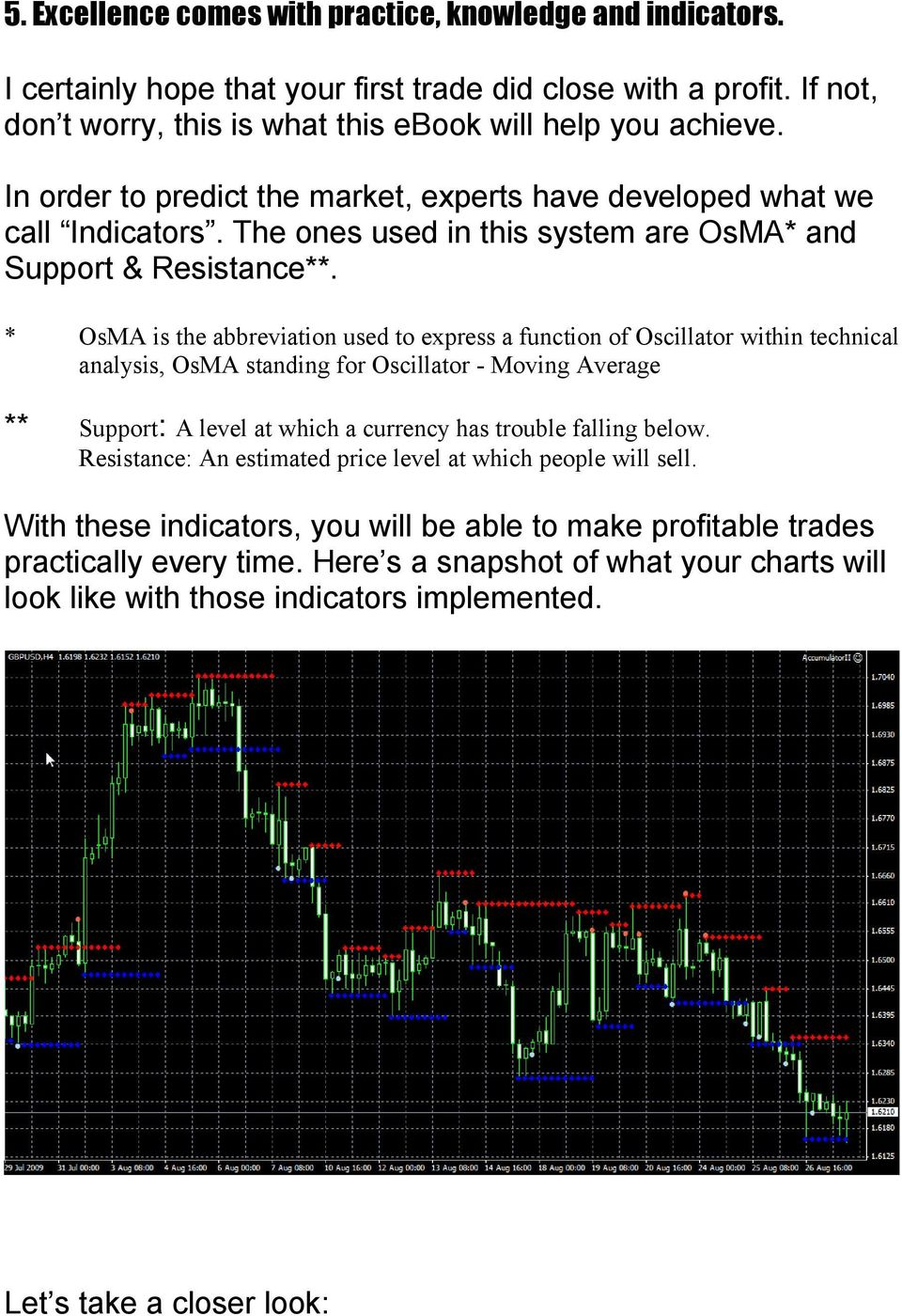 * OsMA is the abbreviation used to express a function of Oscillator within technical analysis, OsMA standing for Oscillator - Moving Average ** Support: A level at which a currency has trouble