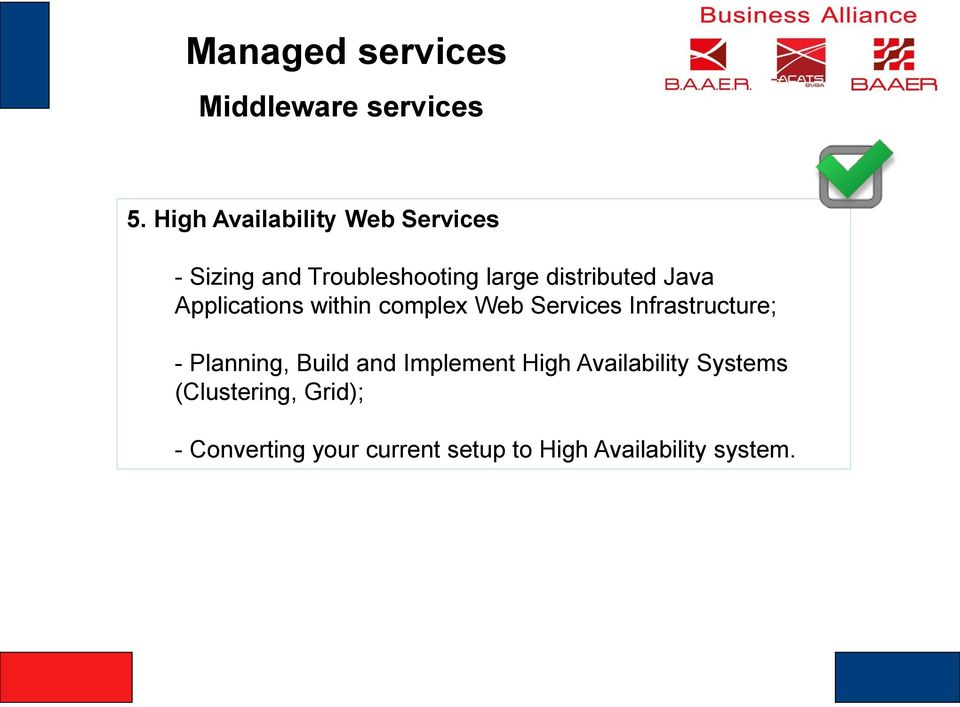 distributed Java Applications within complex Web Services Infrastructure; -