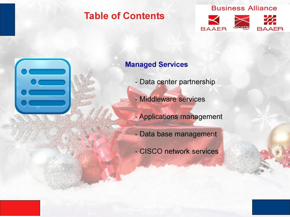 services - Applications management -