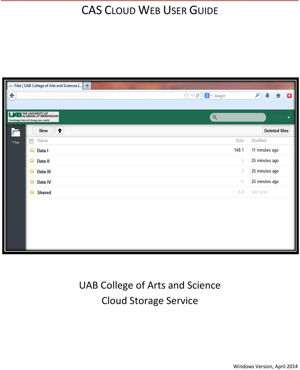 Science Cloud Storage