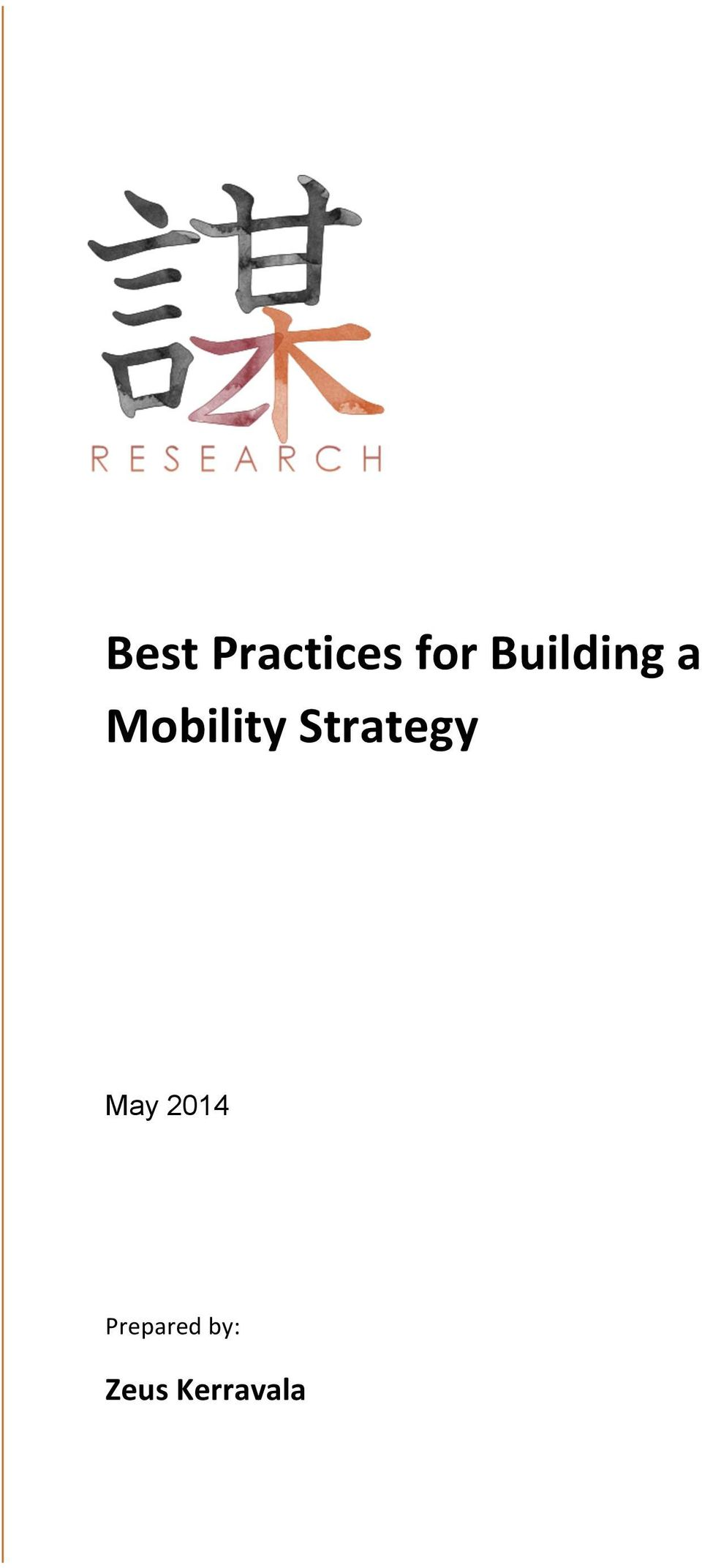 Strategy May 2014