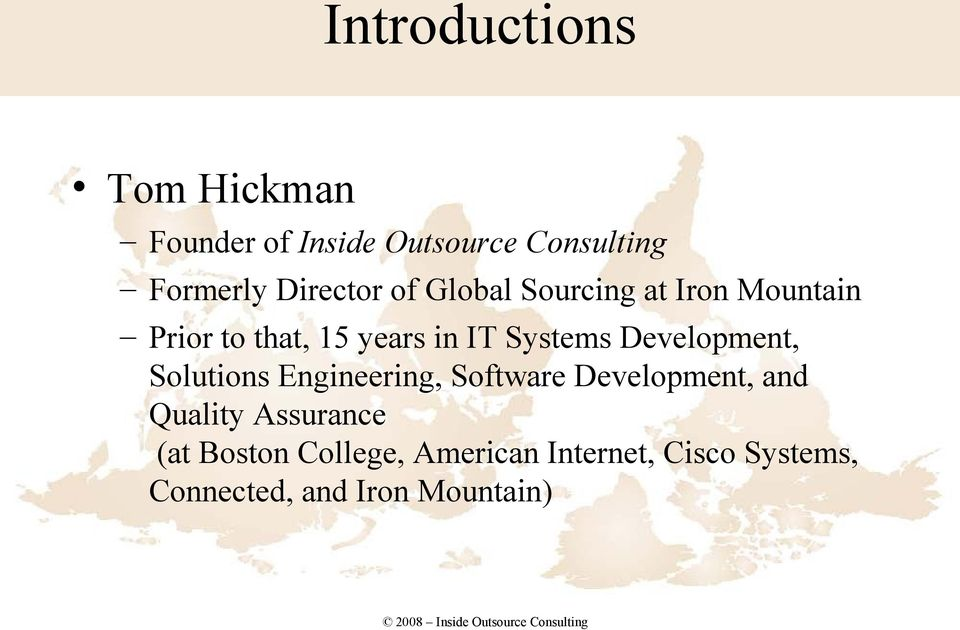 Systems Development, Solutions Engineering, Software Development, and Quality