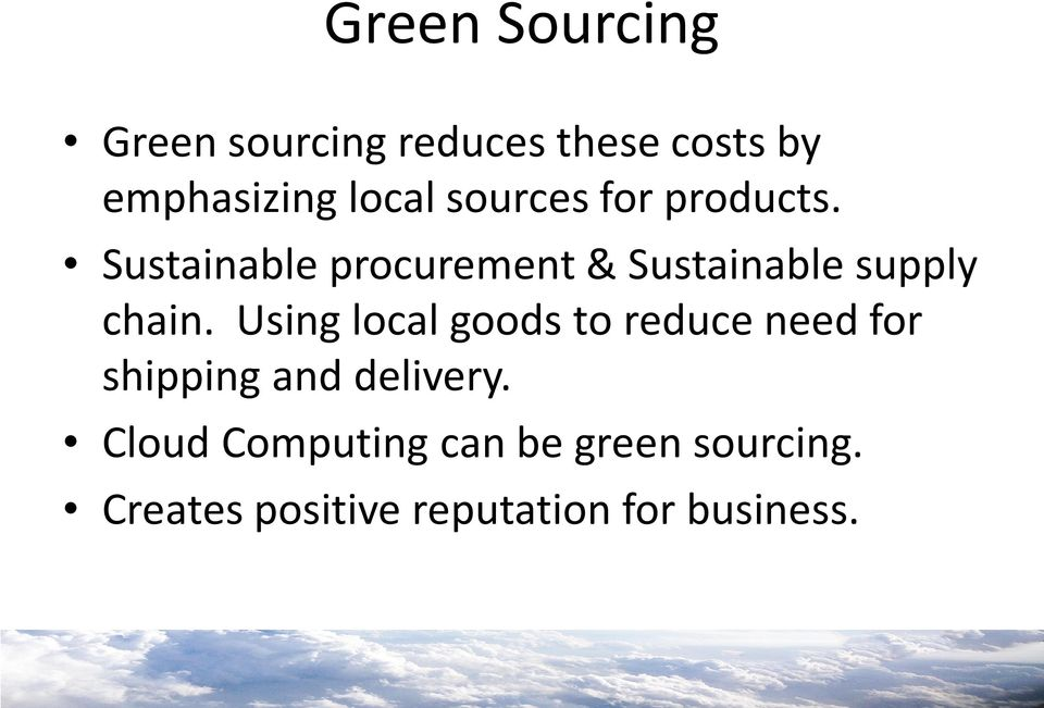 Sustainable procurement & Sustainable supply chain.