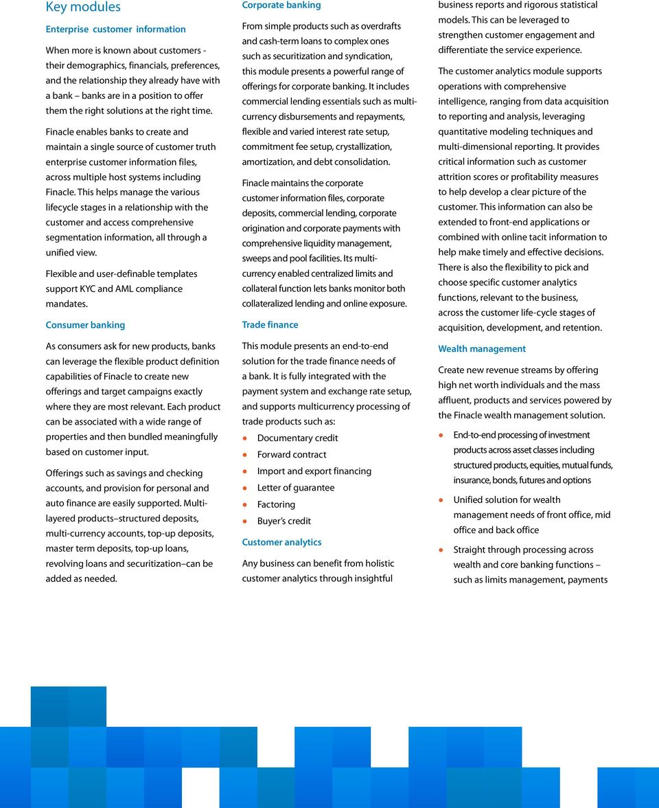 Finacle Core Banking Solution - PDF