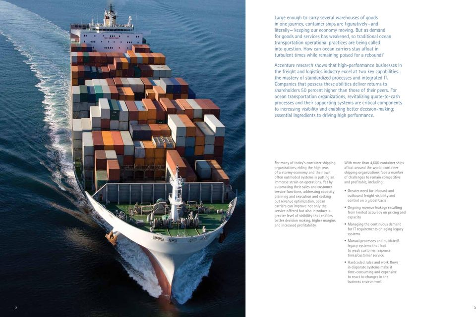 How can ocean carriers stay afloat in turbulent times while remaining poised for a rebound?