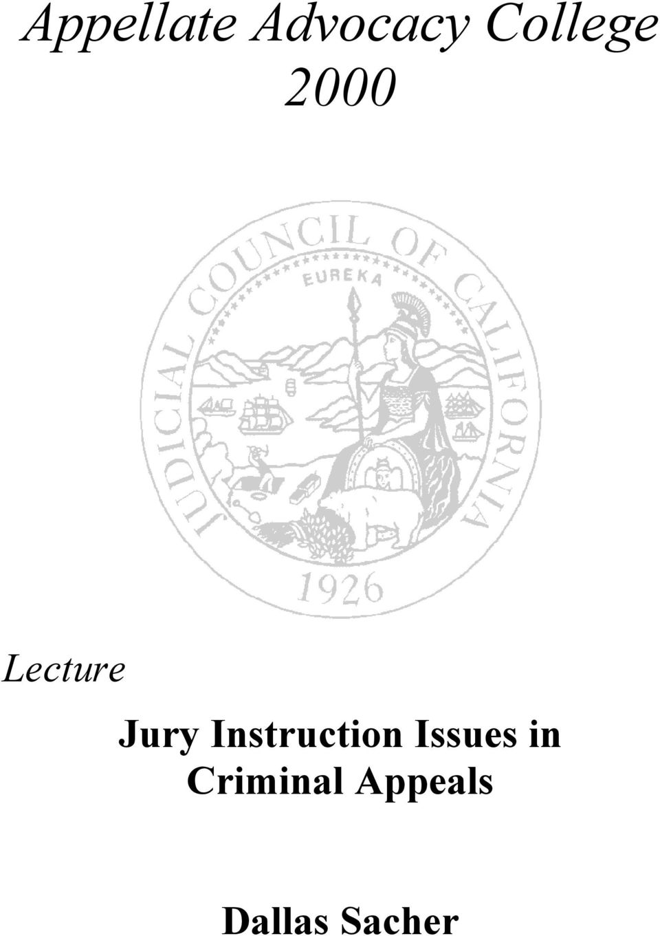 Jury Instruction Issues