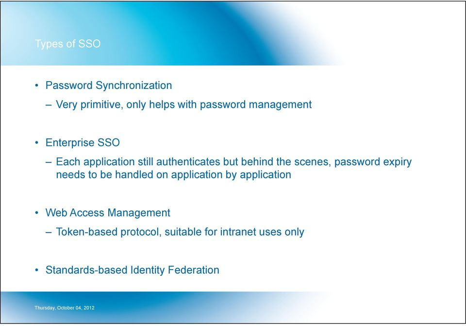 password expiry needs to be handled on application by application Web Access