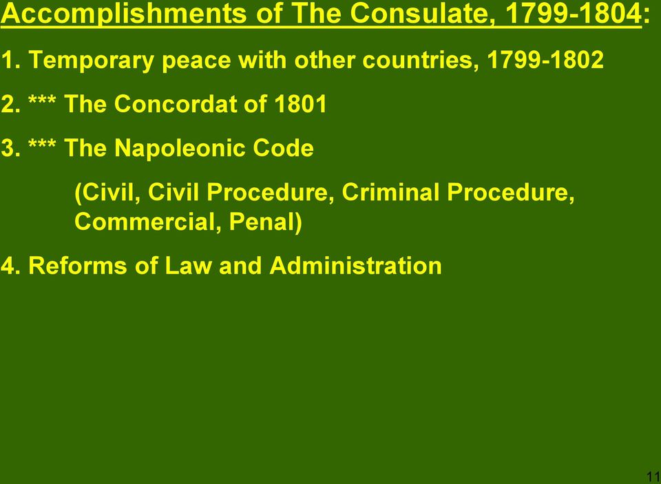 *** The Concordat of 1801 3.