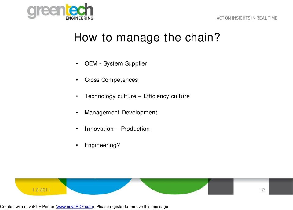 Technology culture Efficiency culture