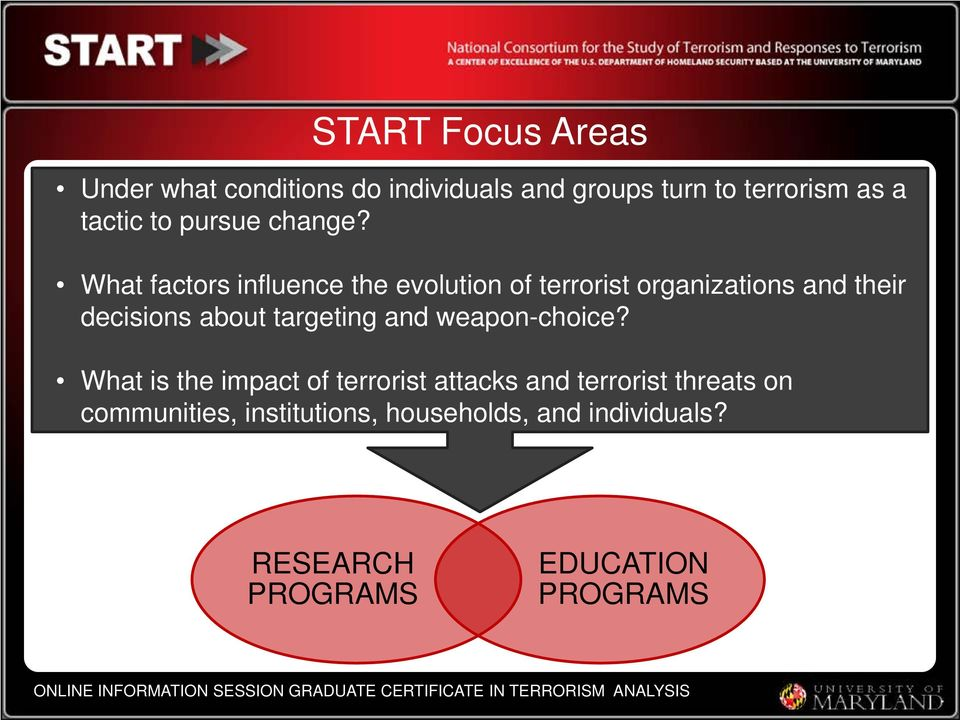 What factors influence the evolution of terrorist organizations and their decisions about