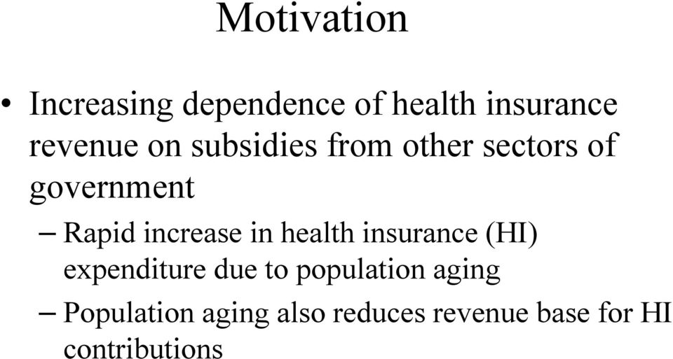 in health insurance (HI) expenditure due to population aging