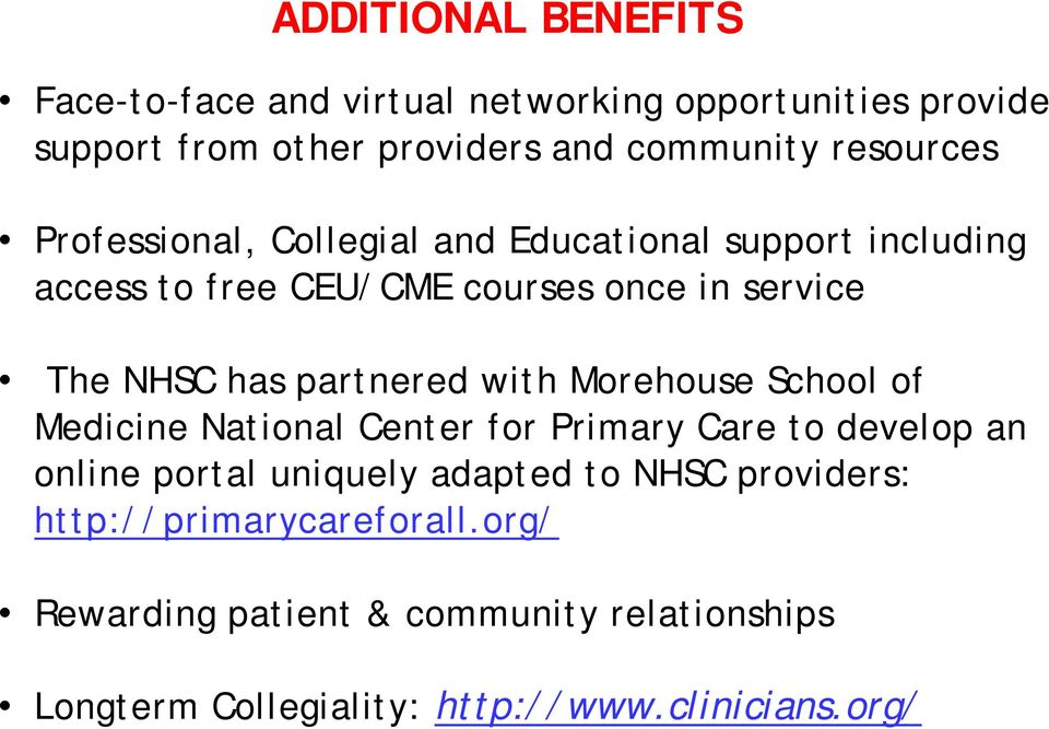 partnered with Morehouse School of Medicine National Center for Primary Care to develop an online portal uniquely adapted to