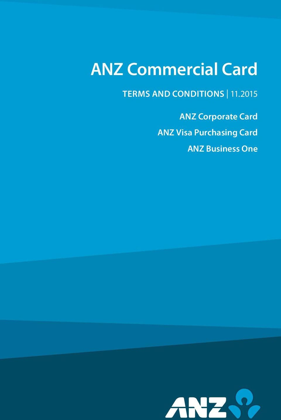 2015 ANZ Corporate Card ANZ