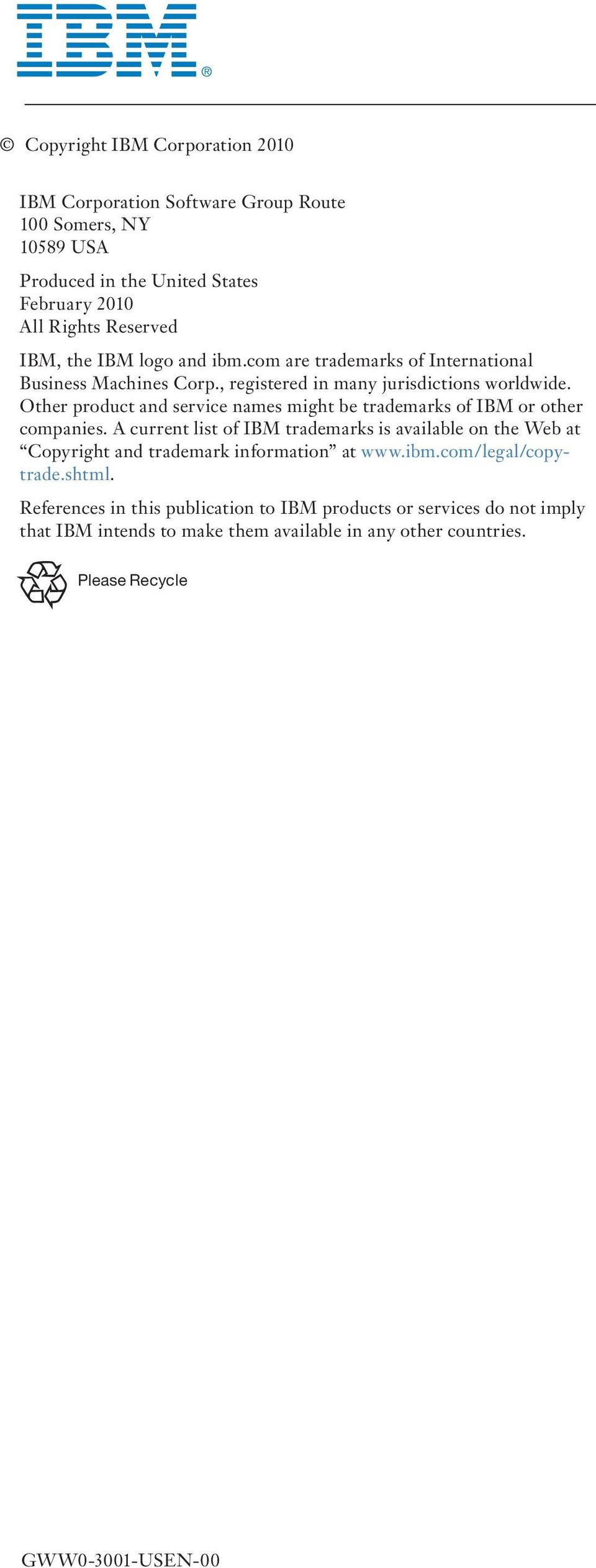 Other product and service names might be trademarks of IBM or other companies.