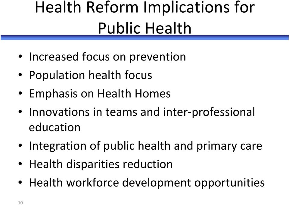 inter professional education Integration of public health and primary care
