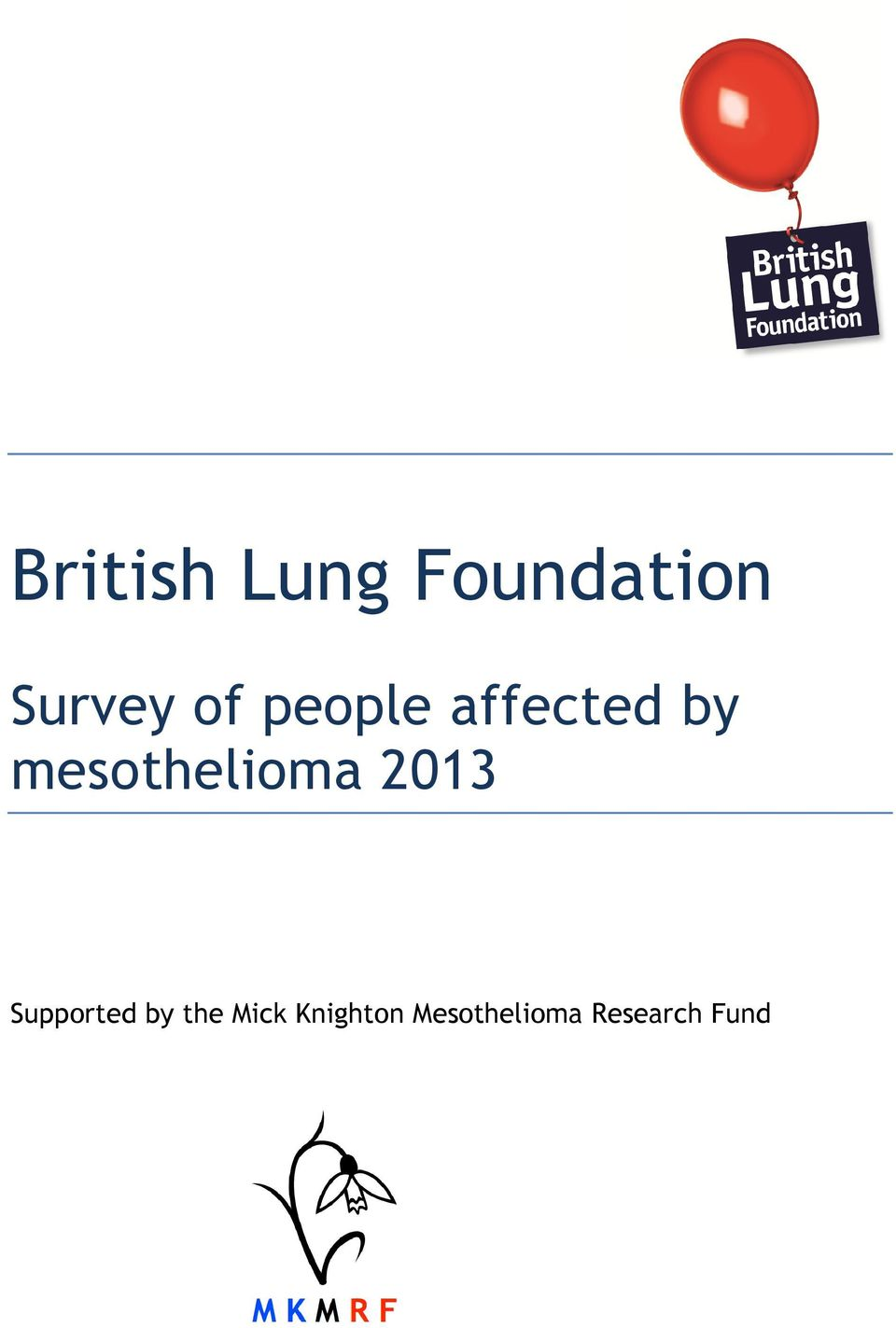 mesothelioma 2013 Supported by