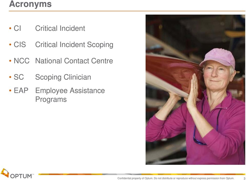 Employee Assistance Programs Confidential property of Optum.