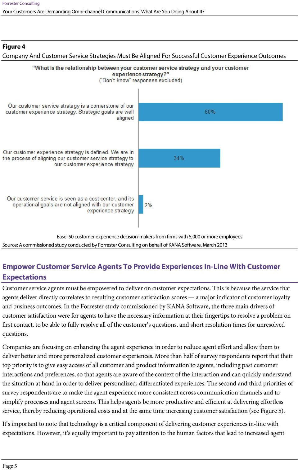Customer service agents must be empowered to deliver on customer expectations.