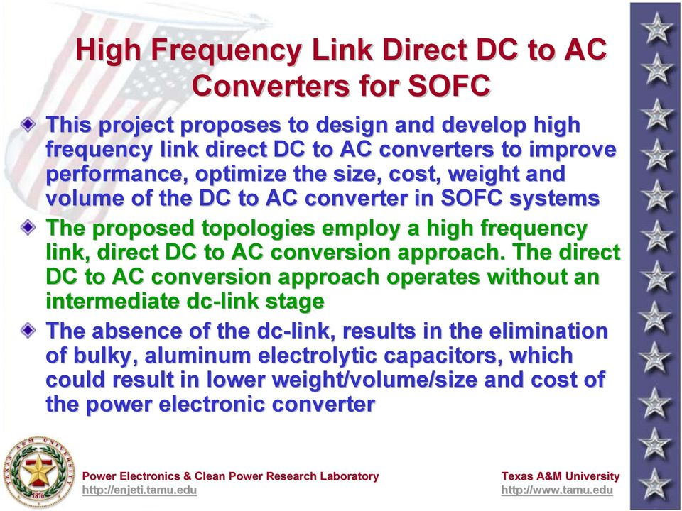 link, direct DC to AC conversion approach.