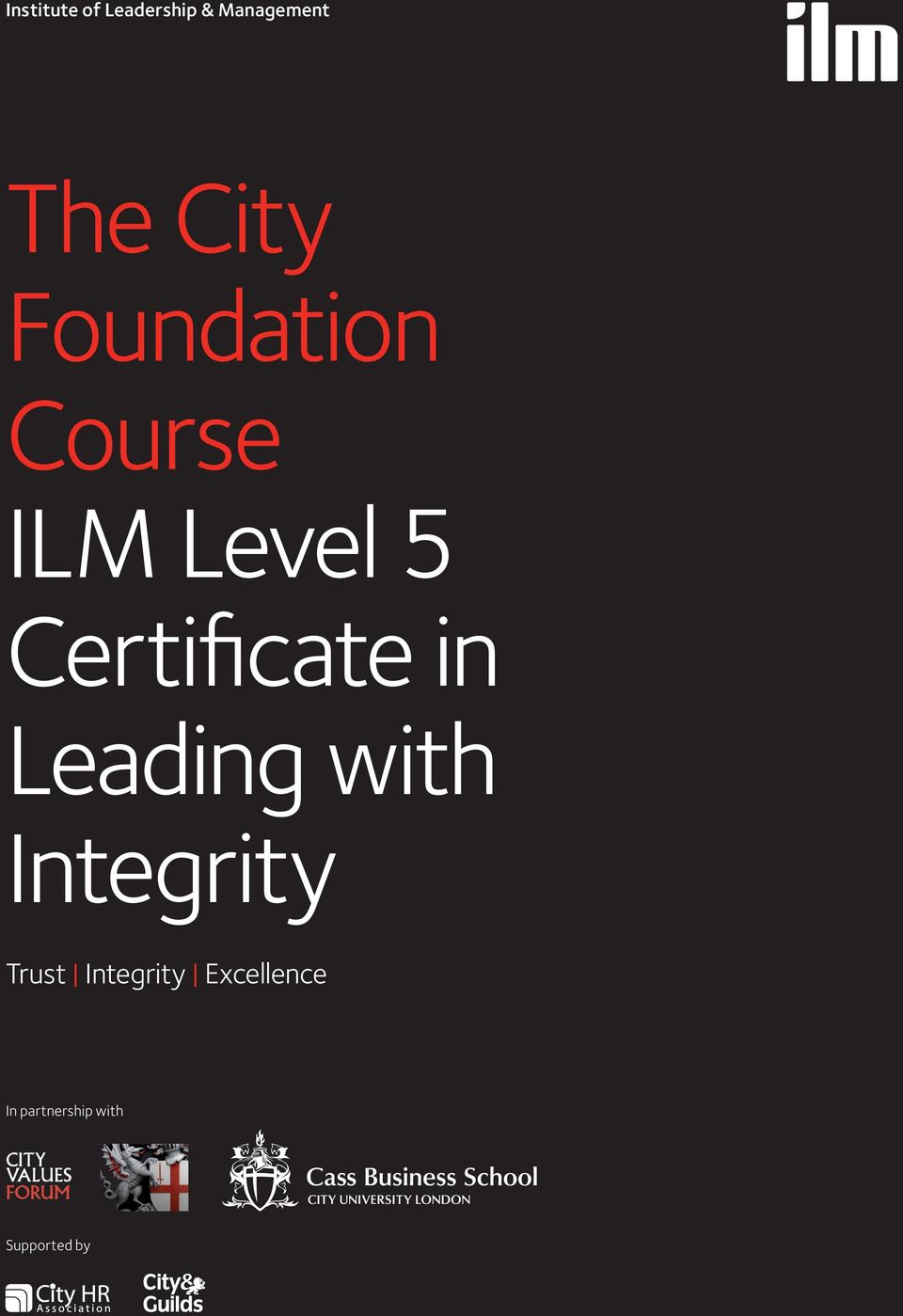 Certificate in Leading with Integrity Trust