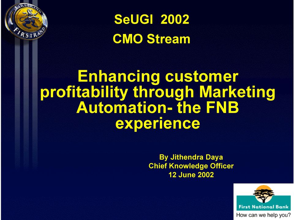 Marketing Automation- the FNB
