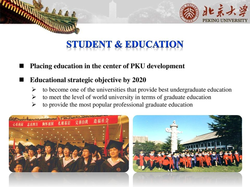 undergraduate education to meet the level of world university in terms of