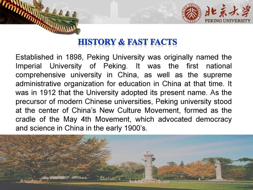 at that time. It was in 1912 that the University adopted its present name.
