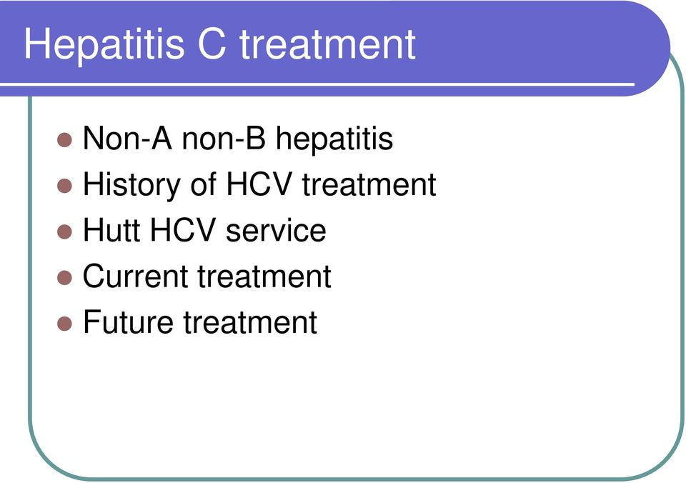 HCV treatment Hutt HCV