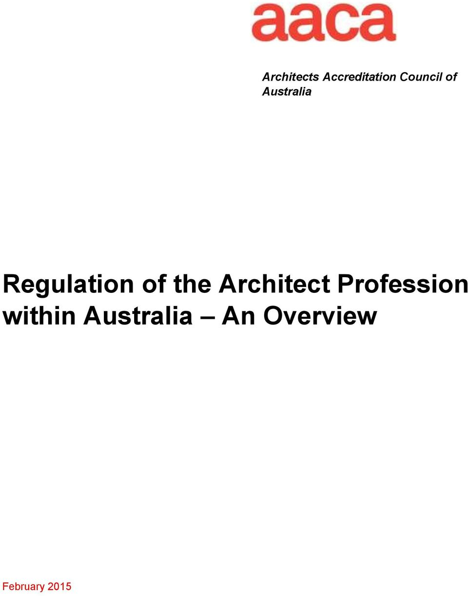 of the Architect Profession