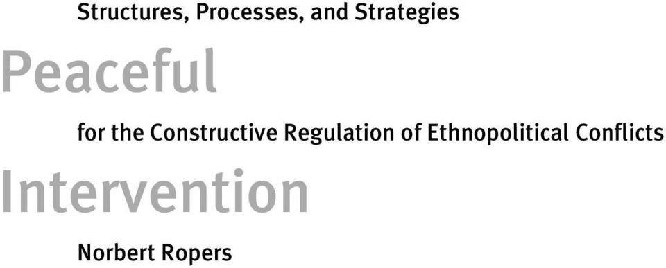 Constructive Regulation of