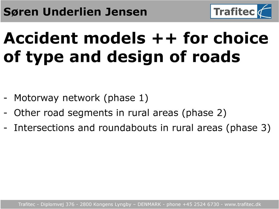 1) - Other road segments in rural areas (phase 2) -