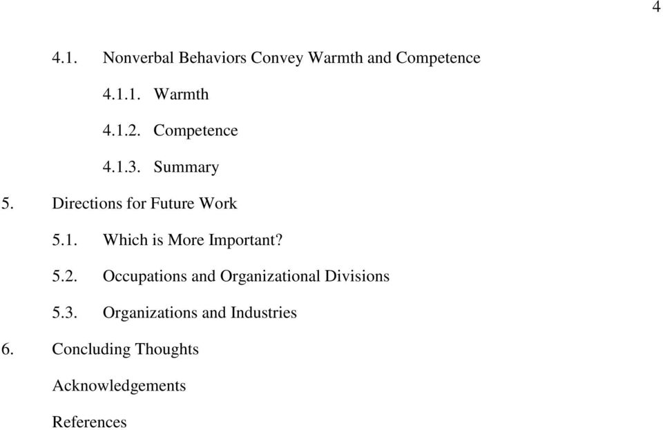 5.2. Occupations and Organizational Divisions 5.3.