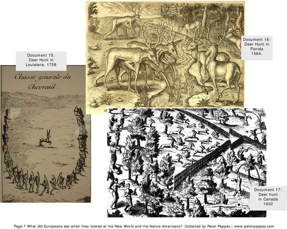 Document 17: Deer hunt in Canada 1632 Page 7 What did Europeans