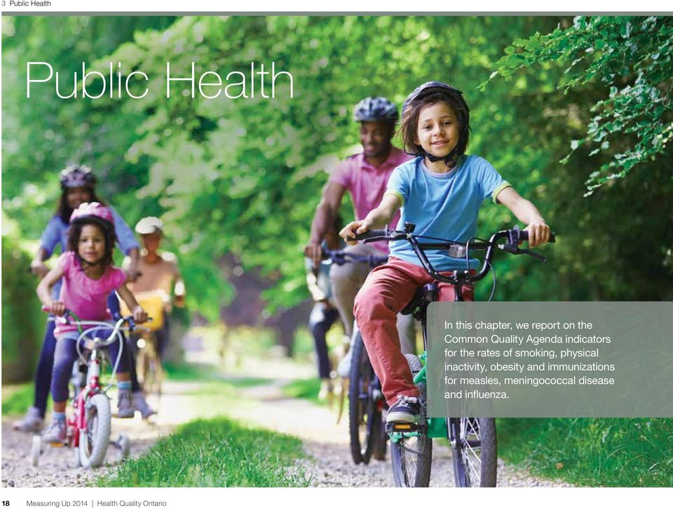 physical inactivity, obesity and immunizations for measles,