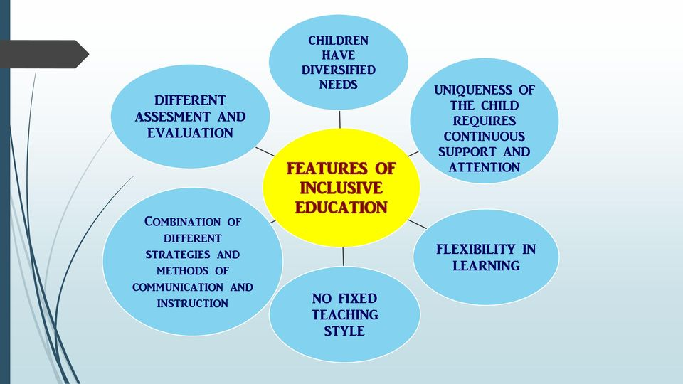 NEEDS FEATURES OF INCLUSIVE EDUCATION NO FIXED TEACHING STYLE UNIQUENESS
