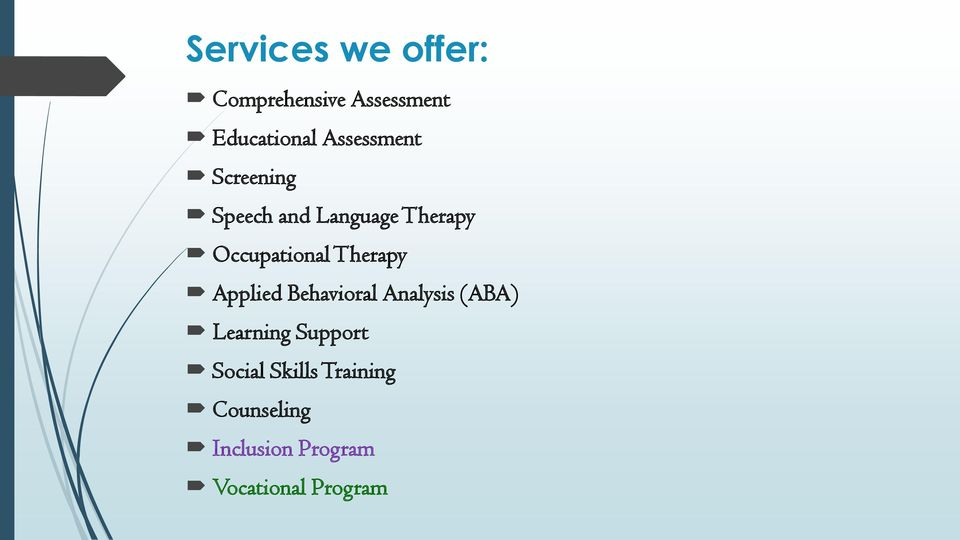 Therapy Applied Behavioral Analysis (ABA) Learning Support