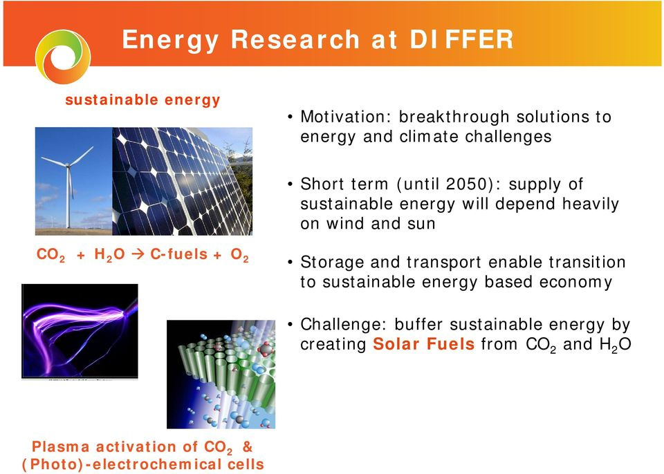 transport enable transition to sustainable energy based economy Challenge: buffer sustainable energy by creating