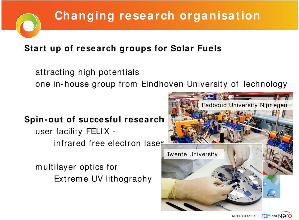 Technology Spin-out of succesful research user facility FELIX - infrared free