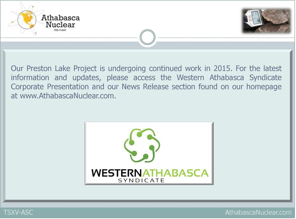 access the Western Athabasca Syndicate Corporate