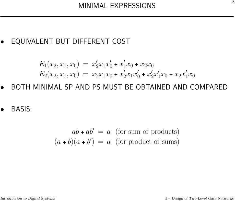 MINIMAL SP AND PS MUST BE OBTAINED AND COMPARED BASIS: