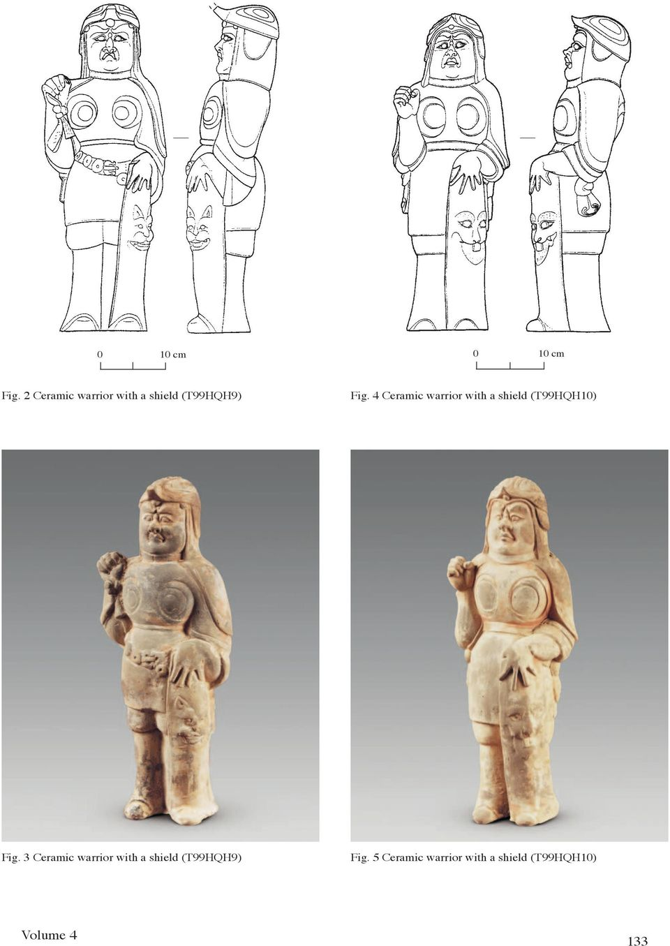 4 Ceramic warrior with a shield (T99HQH10) Fig.