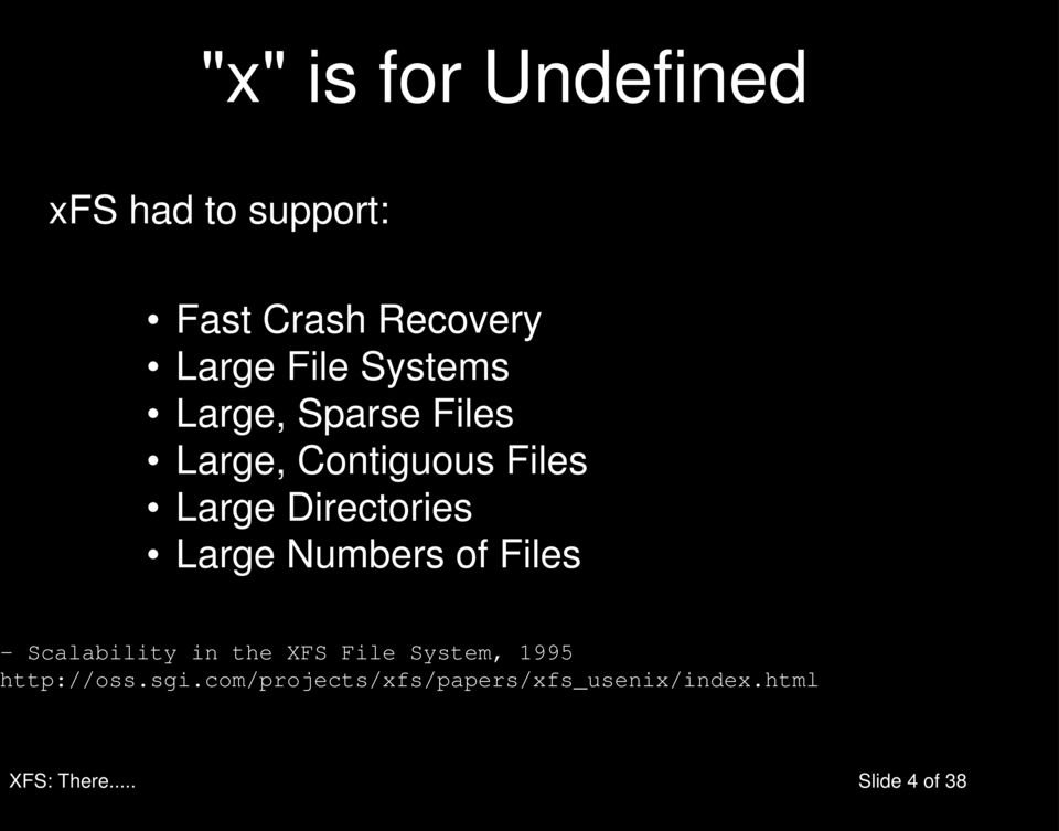 Large Numbers of Files - Scalability in the XFS File System, 1995