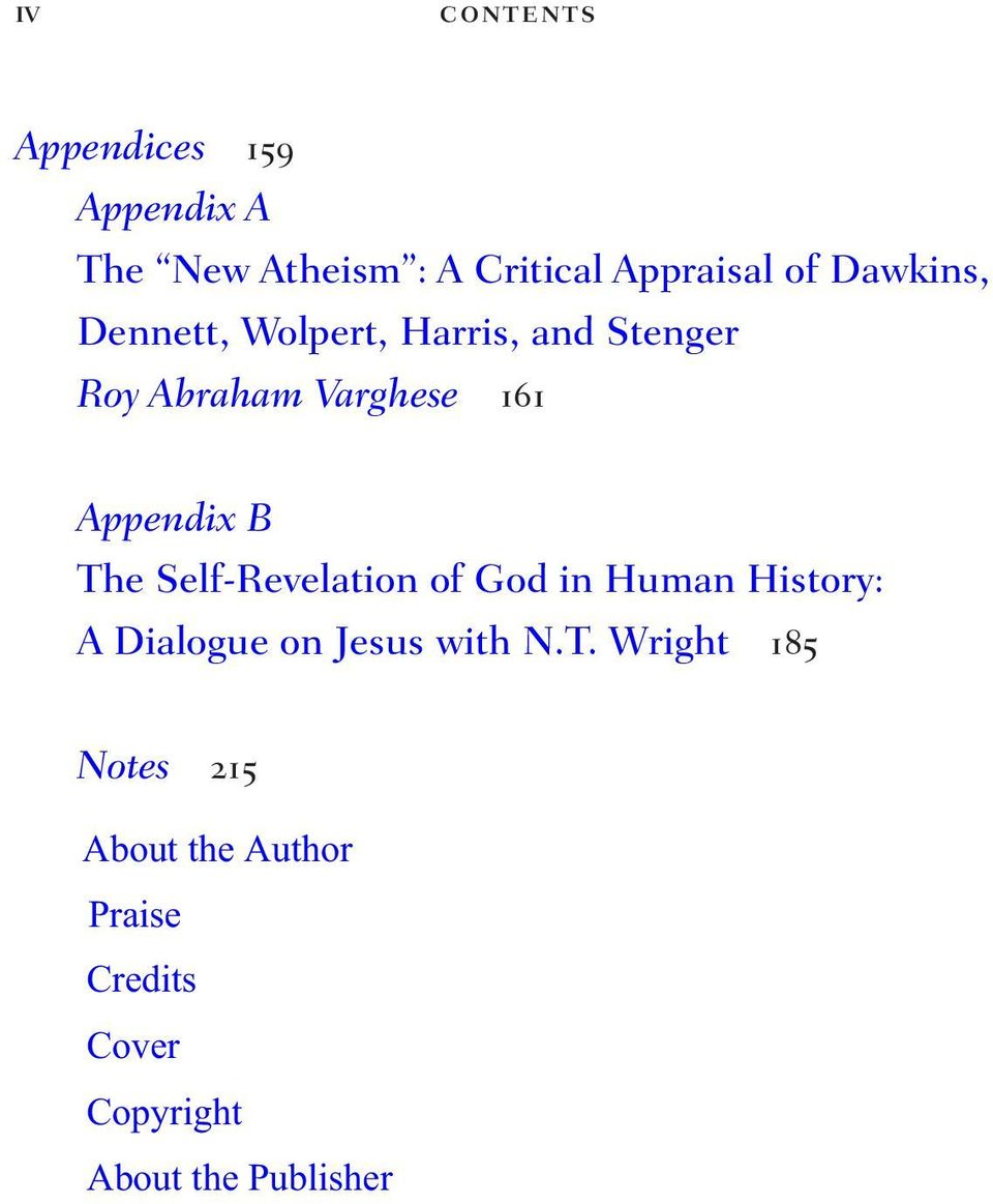 B The Self-Revelation of God in Human History: A Dialogue on Jesus with N.T.