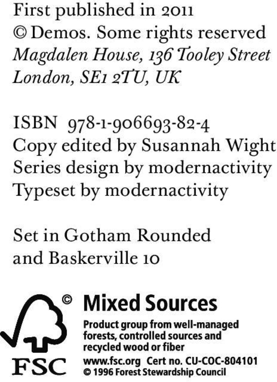 SE1 2TU, UK ISBN 978-1-906693-82-4 Copy edited by Susannah Wight